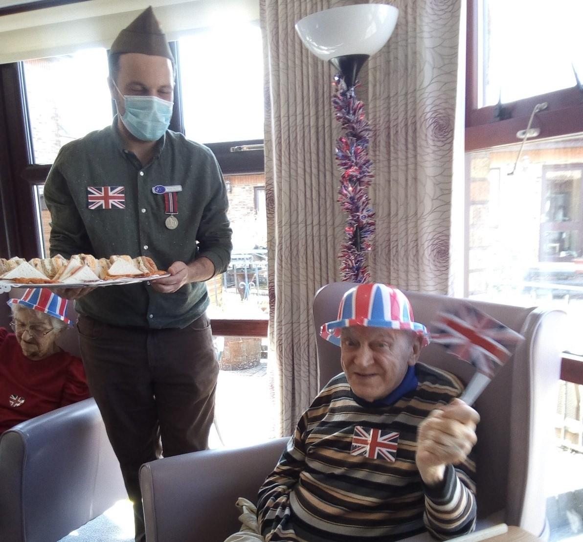 Spiers Care Home residents enjoy VE celebrations