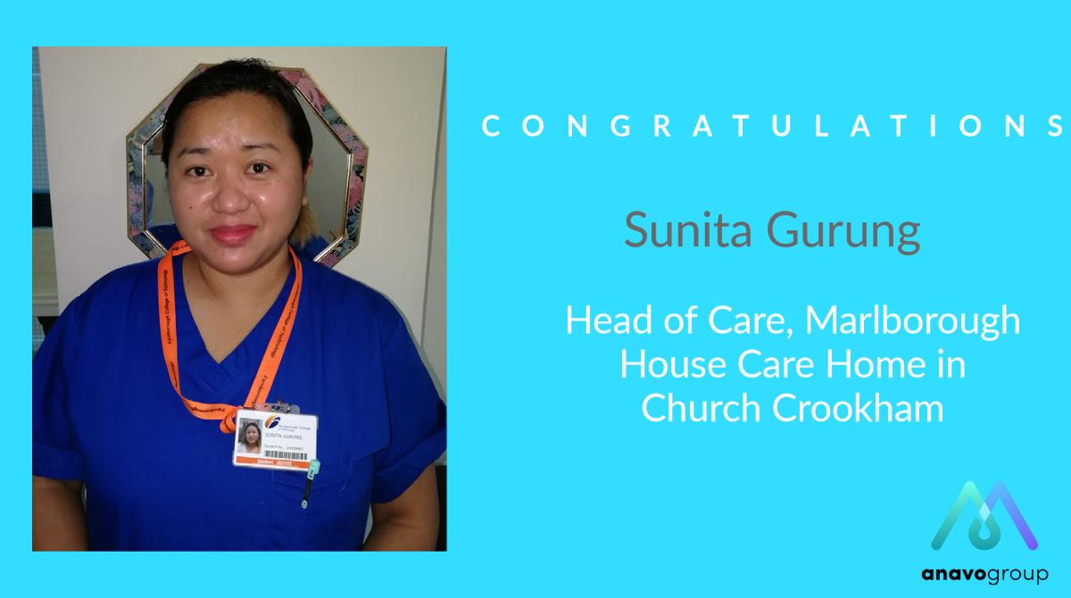 Congratulations to Marlborough House Head of Care