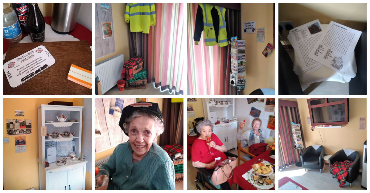 All aboard - a First-class voyage for Beith Care Home residents.