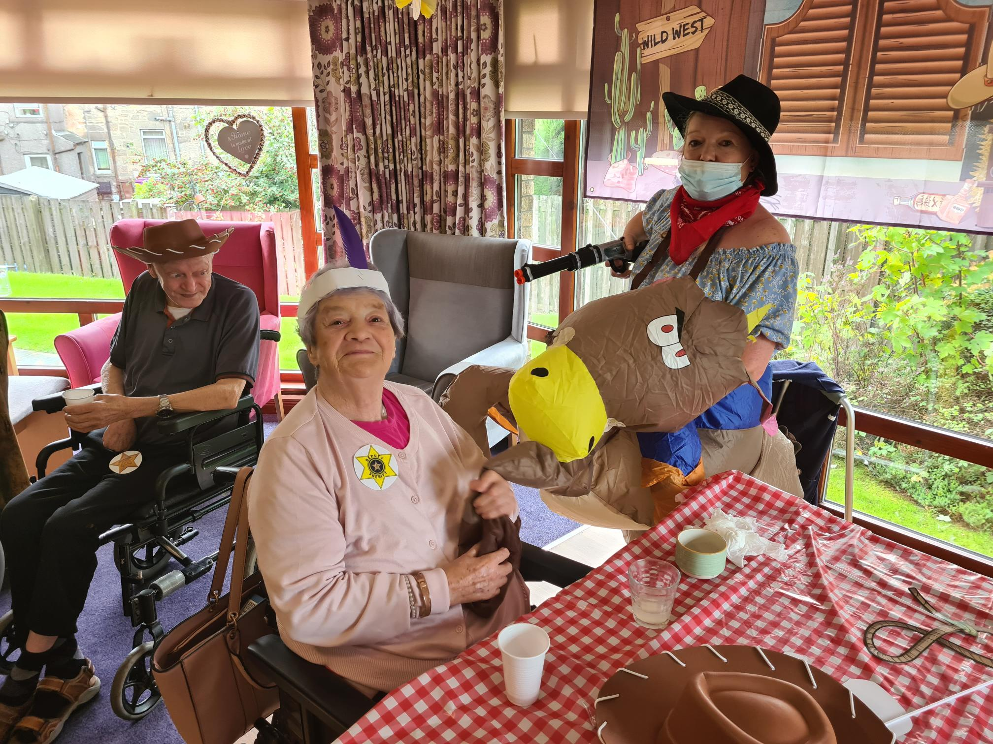 A Rootin' Tootin' Wild West show thrills care home residents.